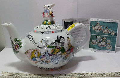 "Alice in Wonderland Paul Cardew Tea Pot. 7.5"" Long From Tip of Spout to Handle."