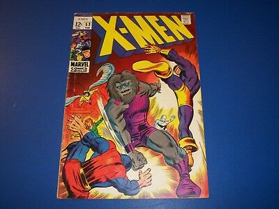 Uncanny X-men #53 Silver Age Comic Book Barry Smith Art Fine- Beauty Wow