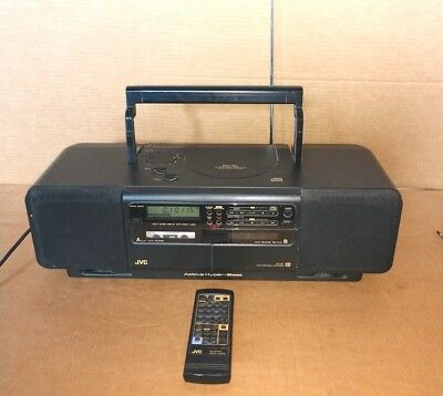 Vintage JVC RC-B1 Boombox Stereo CD Cassette Radio tested works