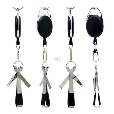 Quick Knot Tool 4 in 1 Fly Fishing Clippers Line Nipper Tying w Zinger Outdoor