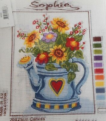 FLOWERS IN WATERING CAN - Tapestry to Stitch (NEW) by SOPHIE