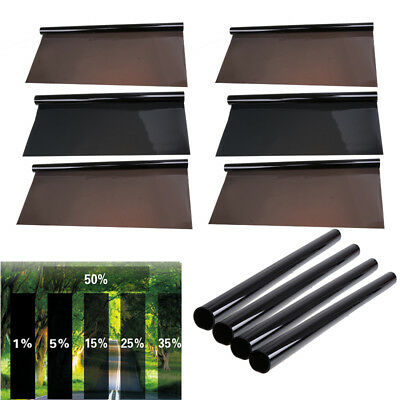 50cm*6M Black Glass Window Tint Shade Film VLT 35% Auto Car House Office Roll