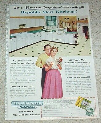Advertising-print Buy Cheap 1953 Vintage Ad For Acme Steel Up-To-Date Styling