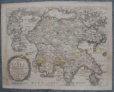 Greece Peloponnese 1638 Merian Scarce Antique Original Copper Engraved Map