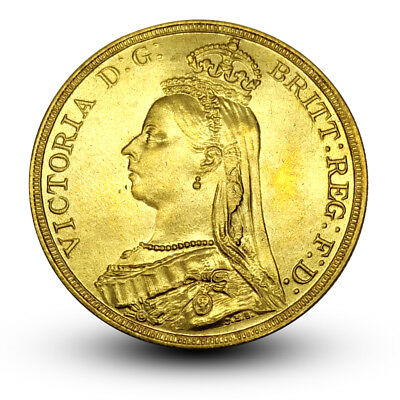UK 1888 Great Britain Coin Queen Victoria One Crown Gold Plated Brass