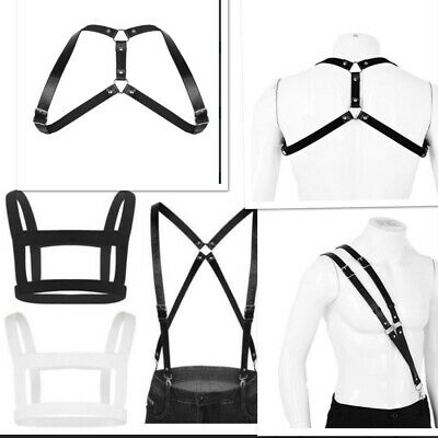 Mens Elastic Shoulder Harness Adjustable Body Chest Waist Belts Cospaly Clubwear