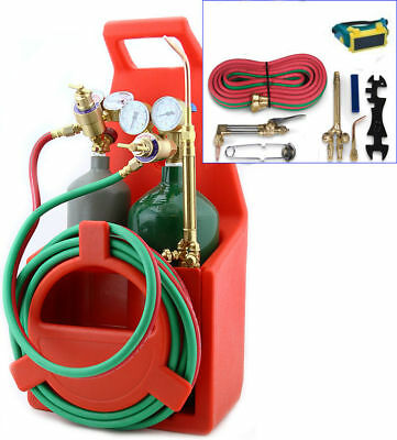Professional Tote Oxygen Acetylene Oxy Welding Cutting Torch Kit with tank-