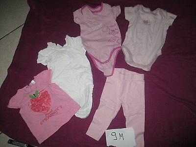 lot vètements filles T:9M