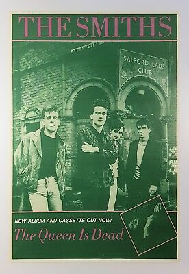 The Smiths 1986 The Queen Is Dead UK Promotional Poster