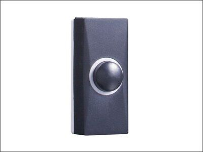 Byron 7900 Wired Replacement/Extra Door Bell Push Button - Black