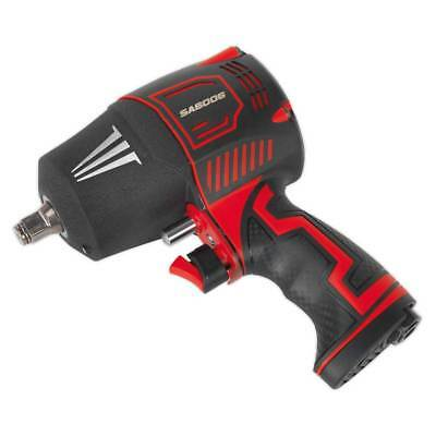 """Sealey SA6006 Composite Air Impact Wrench 1/2"""" Square Drive Twin Hammer"""
