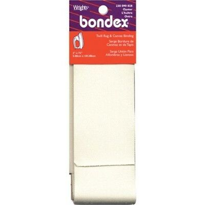 Wrights 230 090-28 Bondex Iron-on Twill Rug And Canvas Binding, Oyster - Ironon