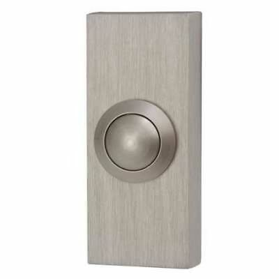 Byron Wired Door Bell Surface Mounted Push Button Doorbell - Brushed Nickel