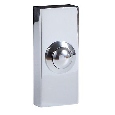 Byron Wired Door Bell Surface Mounted Push Button Doorbell - Chrome Finish