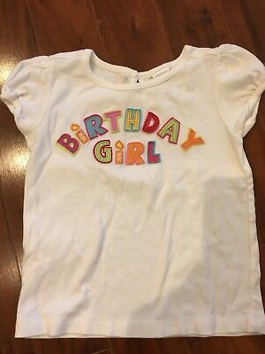 "Girl's Gymboree Outlet ""Birthday Girl"" Short Sleeve Shirt Size 4T"