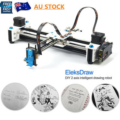 AU EleksDraw Mini XY 2 Axis CNC Pen Plotter EleksDraw Laser Drawing Machine DIY