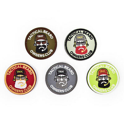 7cm tactical beard owners club embroidered patches badge military armband Pip