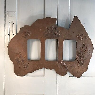 Antique wooden map shape picture frame of Australia