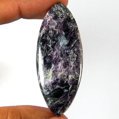 50.15 Cts Natural Purple Charoite Gemstone Marquise Shape Loose Russian Cabochon