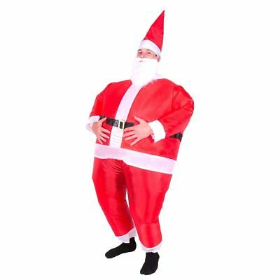 Adults Inflatable Santa Claus Blow Up Christmas Fancy Dress Costume