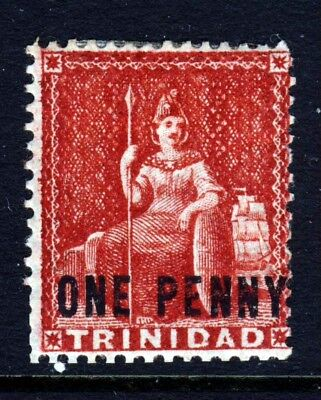 TRINIDAD Queen Victoria 1882 HALF PENNY Surcharge on 1d. Red Wmk CCA SG 101 MINT