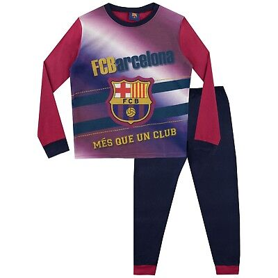Boys Barcelona Football Club Pjs Pyjamas Personalise with Name BFC6