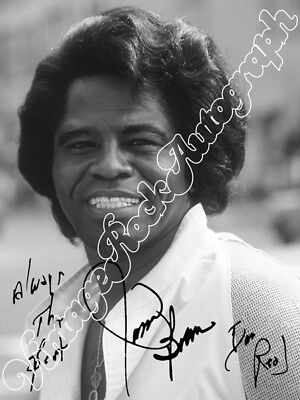 JAMES BROWN - print signed photo - foto autografo stampato