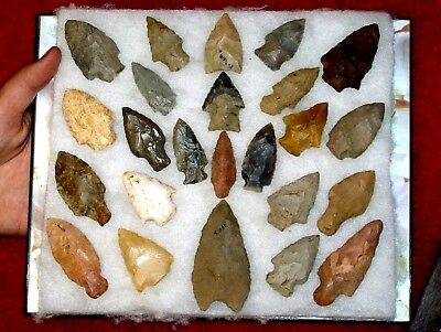 Authentic AL INDIAN  Arrowheads / ARTIFACT LOT 3.