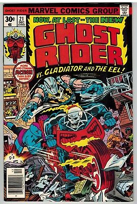 Ghost Rider #21 1976 Jack Kirby Cover Death Of The Eel Marvel Bronze Age Fine!
