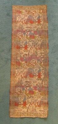 Antique Chinese Woven Silk Tapestry Panel