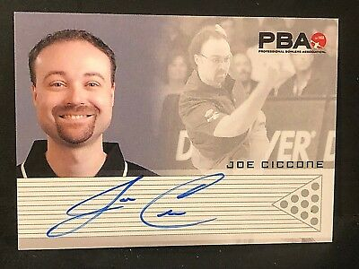 JOE CICCONE 2008 Rittenhouse PBA Bowling AUTOGRAPH On Card Pack Pulled AUTO