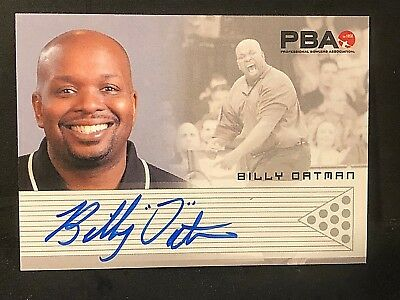 BILLY OATMAN 2008 Rittenhouse PBA Bowling AUTOGRAPH On Card Pack Pulled AUTO