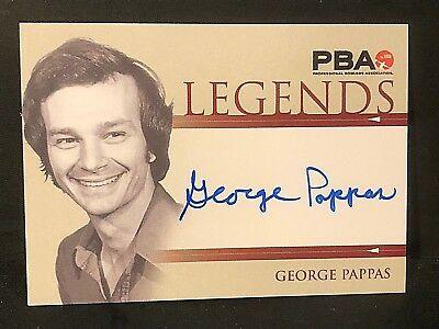 "GEORGE PAPPAS 2008 Rittenhouse PBA Bowling AUTOGRAPH ""Legends"" On Card AUTO"