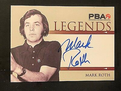 "MARK ROTH 2008 Rittenhouse PBA Bowling AUTOGRAPH ""Legends"" On Card AUTO"