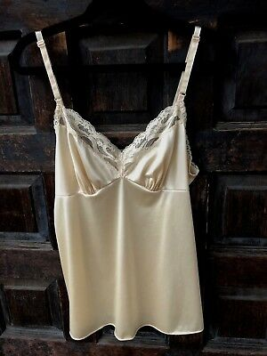 Vintage VANITY FAIR Dark Beige Camisole Sz 32 XS Dupont Nylon Antron Made in USA