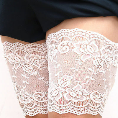 Non-Slip Lace Thigh Bands Elastic Sock Anti-Chafing Prevent Thigh Chafing Socks
