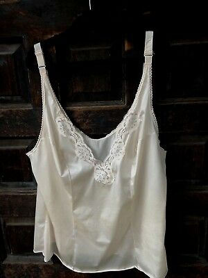 Vtg VASSARETTE Beige Camisole Underneath It All Size 40 XL Nylon Antron USA