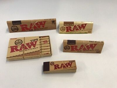 1 Raw Pre-Rolled Tip-1 Reg Tips-2 Rolling  Papers 1.25size And 1 King Slim Paper