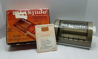 Vintage Sears Electric 1 Minute Hotdog Cooker in Original Box w/Manual - Works!