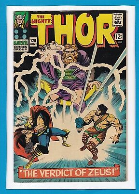 "Mighty Thor #129_June 1966_Fine+_Hercules_""the Verdict Of Zeus""_Silver Age!"