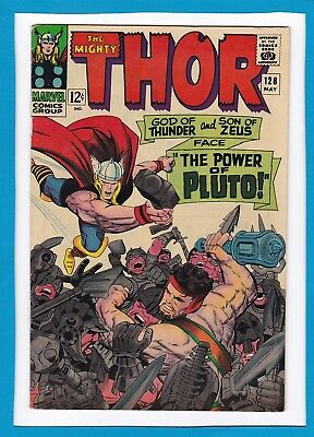 "Mighty Thor #128_May 1966_Vf Minus_Hercules_""the Power Of Pluto""_Silver Age!"
