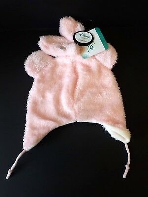 Primark Disney Baby Minnie Mouse Pink Hat and Mittens Set 12 - 24 months