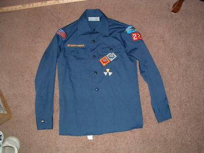 Boy Scouts Blue Uniform Long Sleeved Shirt Youth Medium used