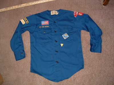 Cub Scouts Blue Uniform Long Sleeved Shirt Youth Small used