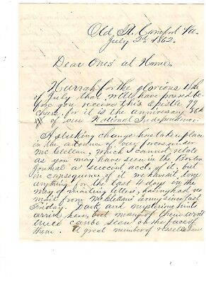 Civil War Letter From Francis Richardson, Military Postmaster, Ref: Supplies