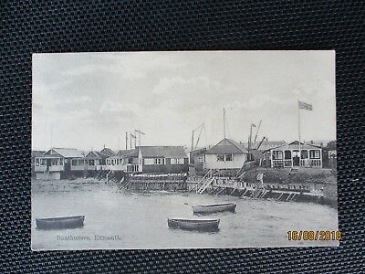 Boat Houses Exmouth 1909 postcard