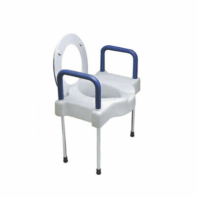 Ableware 725882000 Extra Wide Tall-Ette Elevated Toilet Seat W/ legs