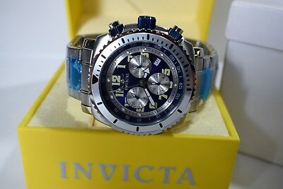 Invicta Specialty Chronograph Blue Dial Stainless Steel Men's Casual Watch 0617