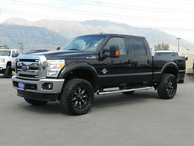 Ford Super Duty F-250 LARIAT LIFTED FORD CREW CAB LARIAT 4X4 POWERSTROKE DIESEL CUSTOM WHEELS TIRES LEATHER