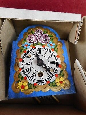 MIB Vintage German Miniature Clock (BLUE) S6